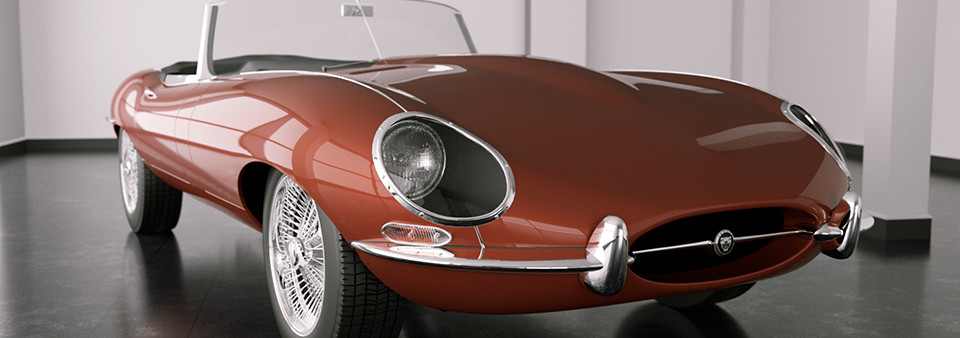 E-type Jaguar by Squir, rendered with Octane
