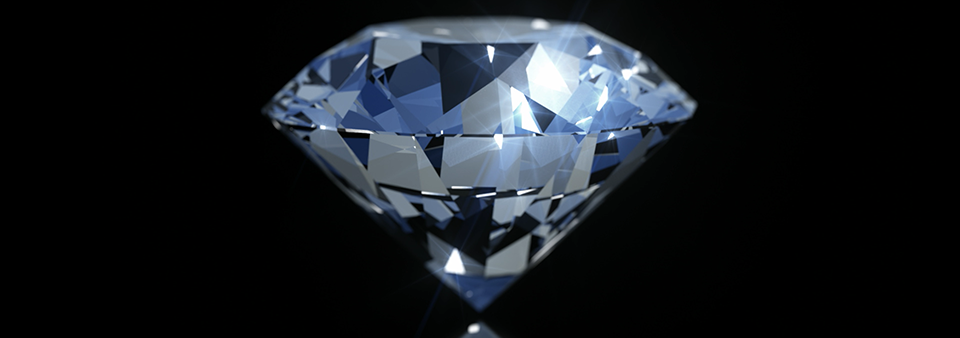 A perfect diamond. Made for stock.