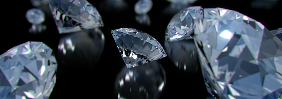 A parade of sparkling diamonds. Still image from video for stock